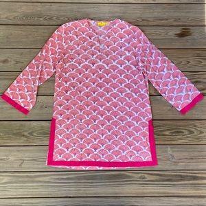 Roberta Roller Rabbit Pink Fan Print Tunic
